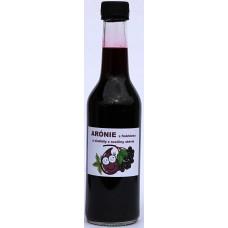 Arónie s fruktózou a sladidly z rostliny stévie - 500 ml