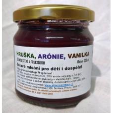 Hruška s Arónií, vanilkou - DŽEM výběrový EXTRA SPECIÁL se sladidly z rostliny STÉVIE - 200 g