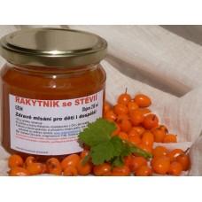 Rakytníkový s fruktózou a sladidly z rostliny stévie  - 200 g