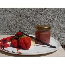 Jahodová hříšnice - jahodový džem s bílou čokoládou a pravou vanilkou  - 200 ml