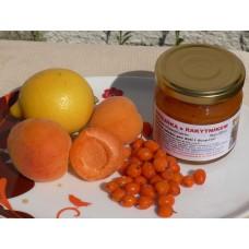 Džem Meruňka s Rakytníkem, třtinovým cukrem a citrónem - 200 ml