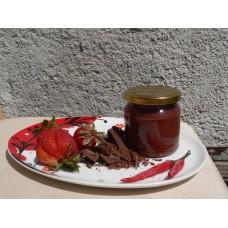 Jahodový ďábel - jahodový džem s tmavou belgickou čokoládou a chilli -  200 g