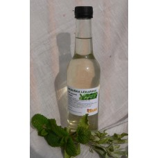 Meduňkový sirup s fruktózou a sladidly z rostliny stévie zpracovaný za studena čirý - 350 ml
